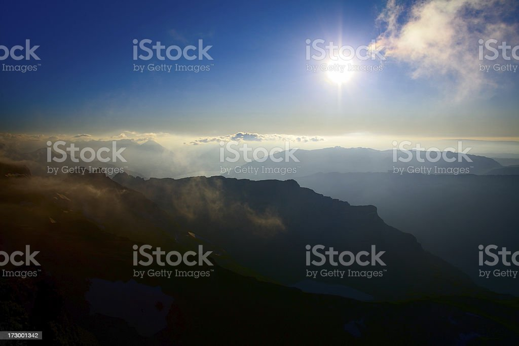 Alpine View from Faulhorn royalty-free stock photo
