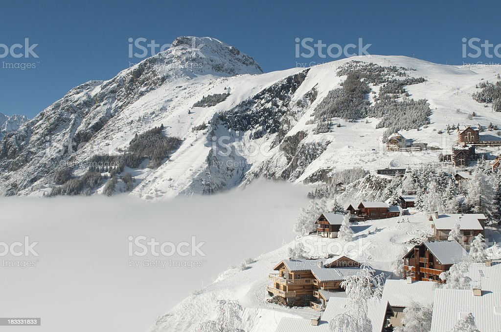 Alpine Village stock photo