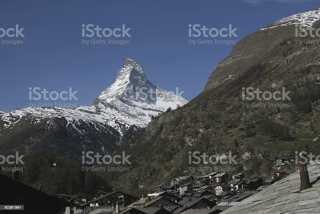Village & Zermatt Alpen Lizenzfreies stock-foto