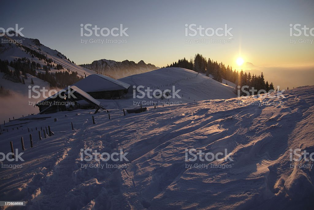 Alpine Winter Idyll royalty-free stock photo