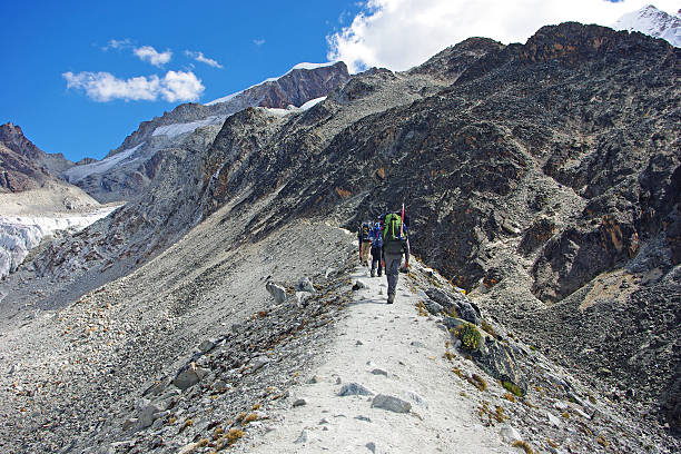 Alpinism in Bolivia stock photo