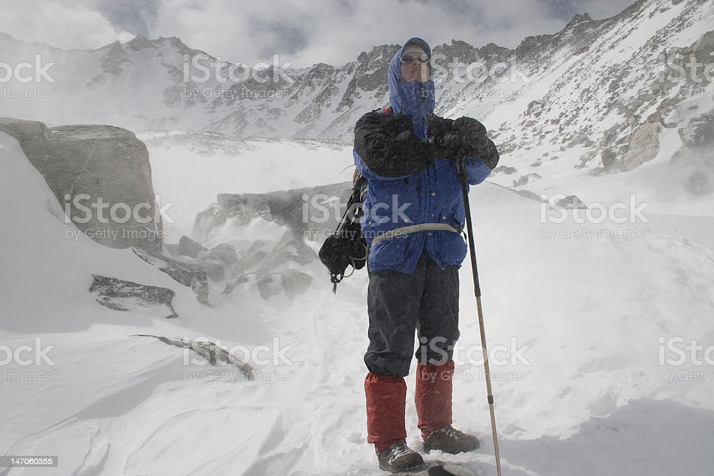 Alpinist stock photo
