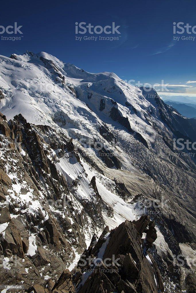 Alps. Aiguille de Midi, royalty-free stock photo