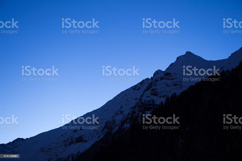Alps at night stock photo