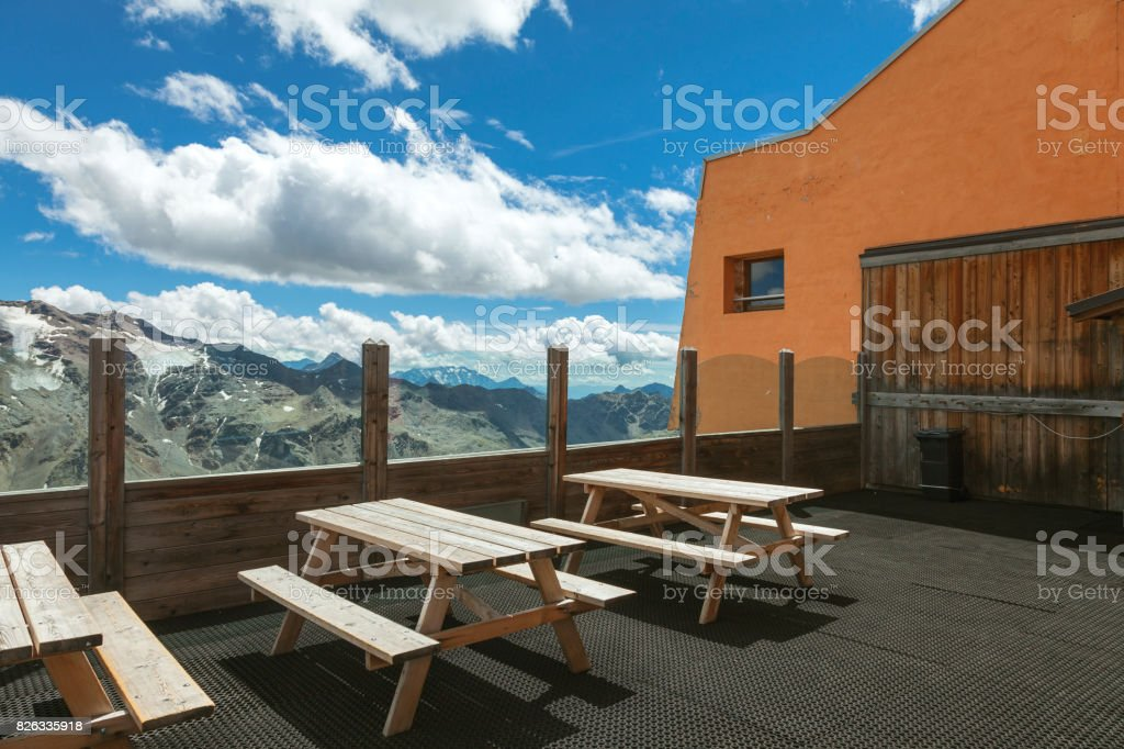 Alps balcony. Color image stock photo