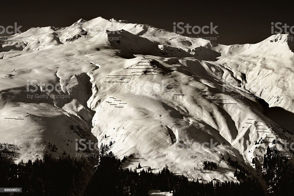 Alps Black and White royalty-free stock photo