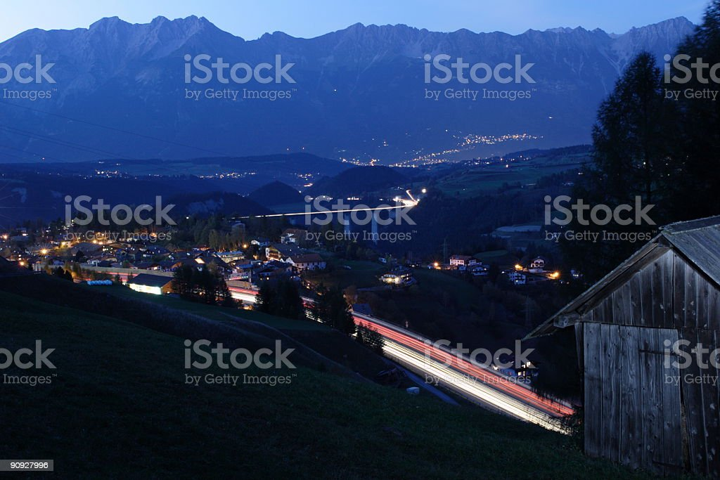 Alps Choking in traffic royalty-free stock photo
