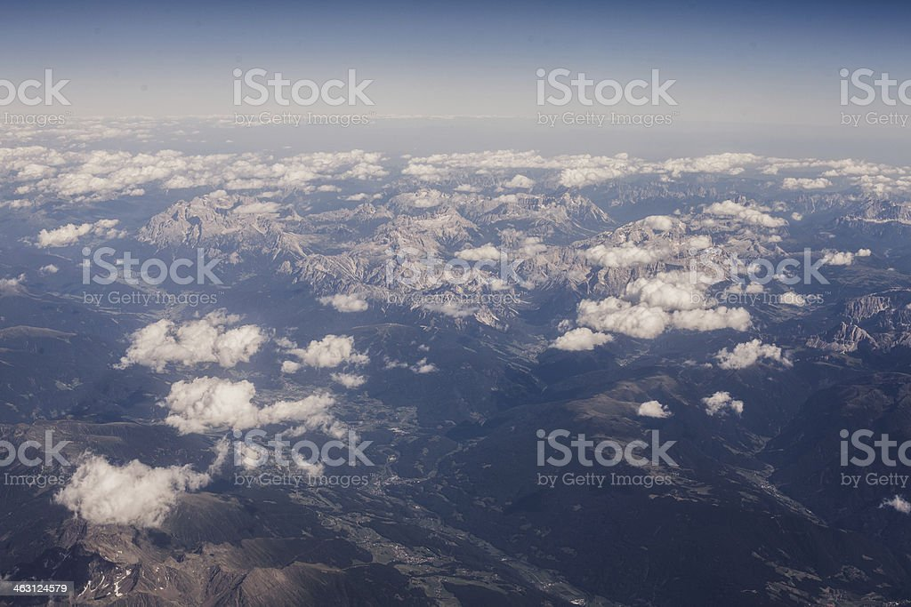 Alps from the plane royalty-free stock photo