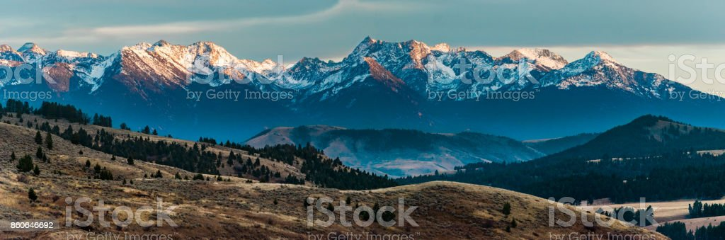 Alpen Glow stock photo