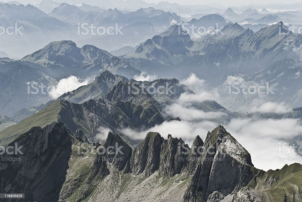 Alps in Switzerland royalty-free stock photo