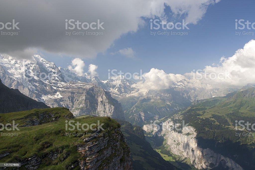 Alps in Switzerland stock photo