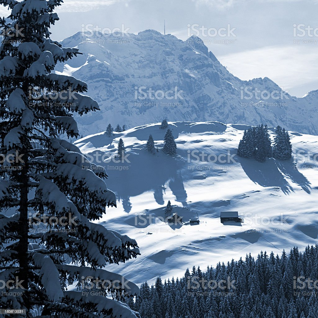 Alps in Winter royalty-free stock photo