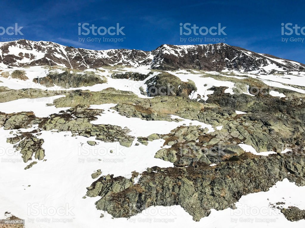 Alps in winter - Royalty-free Blue Stock Photo