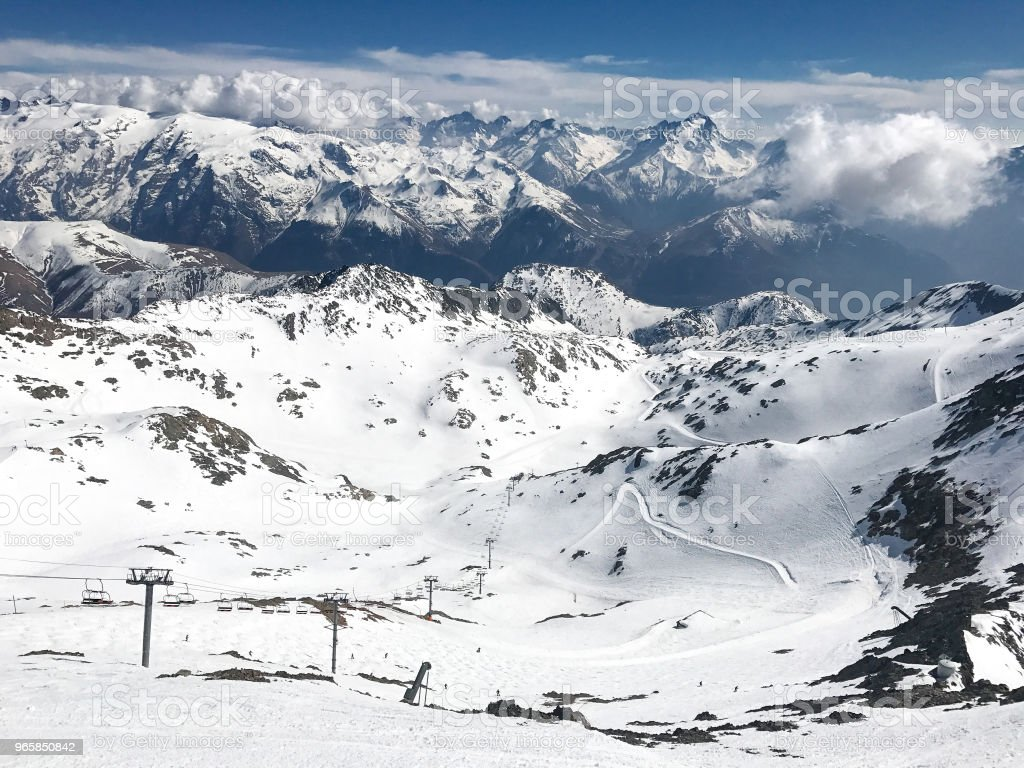 Alps in winter - Стоковые фото Альп д'Юэз роялти-фри