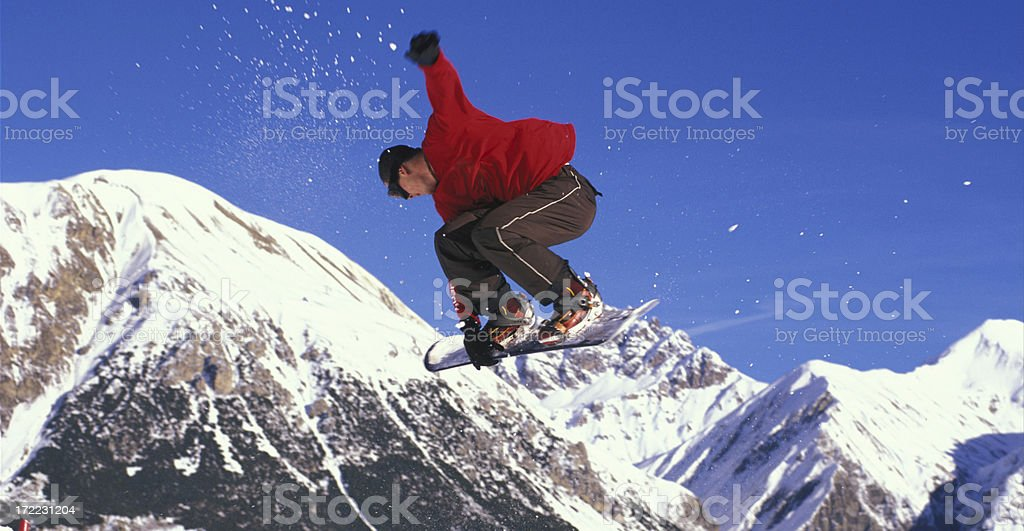 Alps Jump royalty-free stock photo