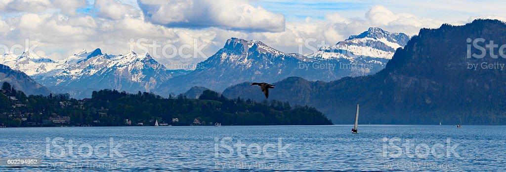 Alps, Lake, Lucerne, Switzerland stock photo