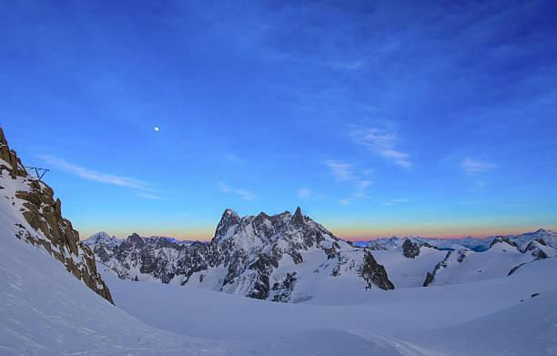 Paysage des Alpes à l'Aiguille du Midi - Photo