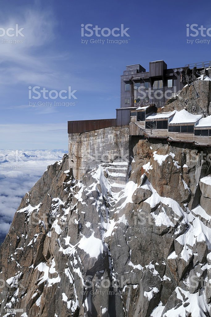 Alps Mountain Building - XLarge royalty-free stock photo