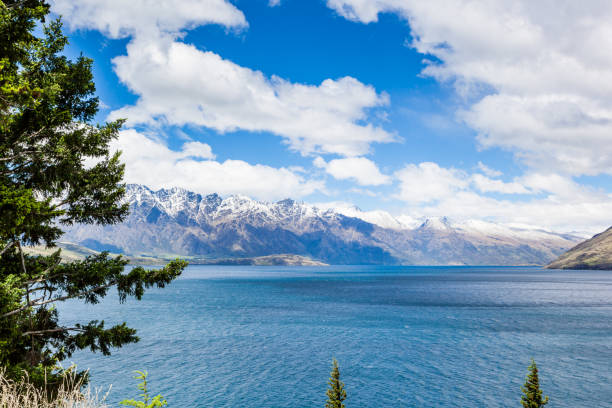 Alps Mountain Glaciers in New Zealand stock photo