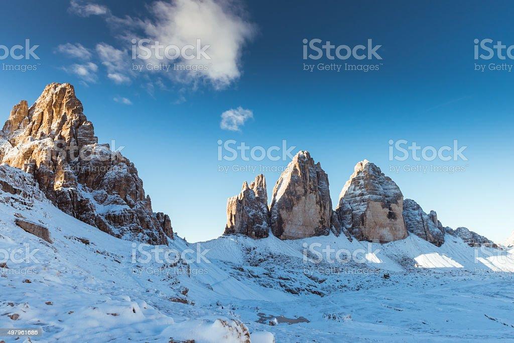 Alps mountains view stock photo