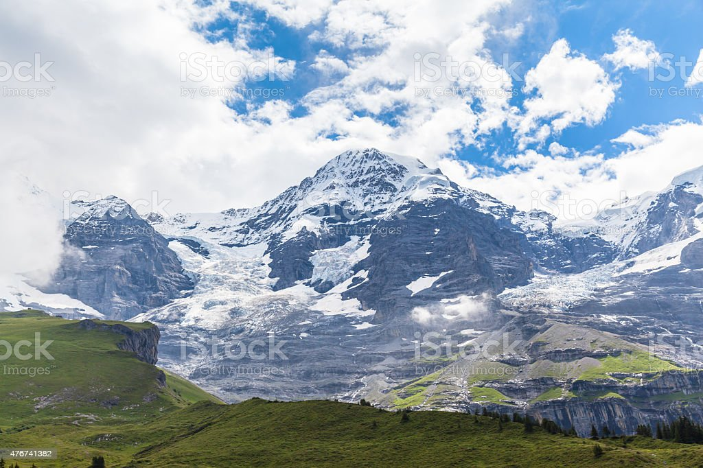 Alps on Bernese Oberland stock photo