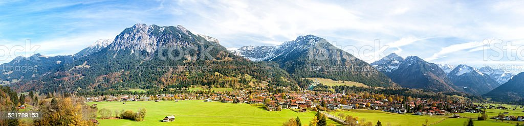 Alps Panorama, Oberstdorf in Bavaria, Germany stock photo