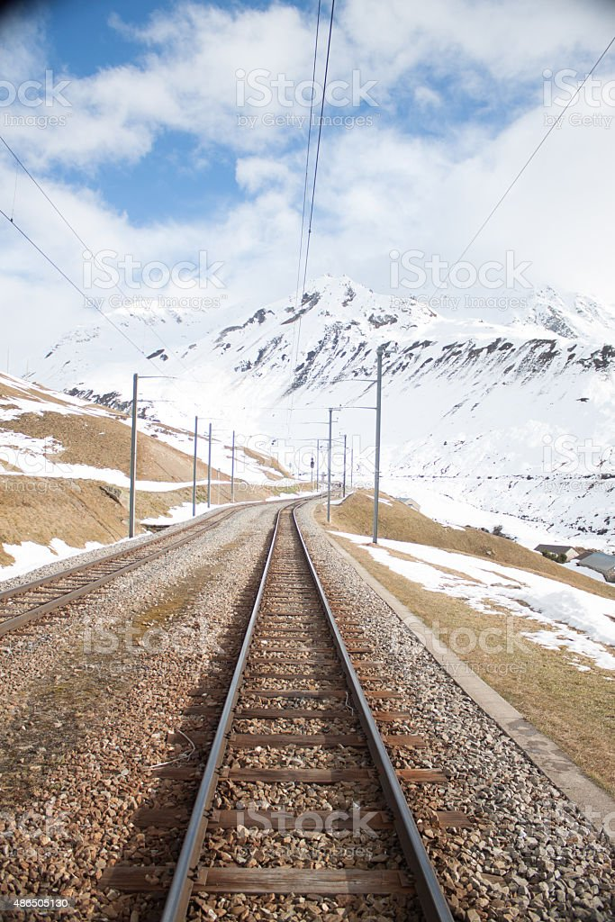 Alps railway stock photo