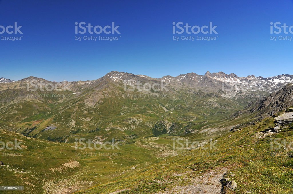 Alps, region of France, Italy, Switzerland stock photo