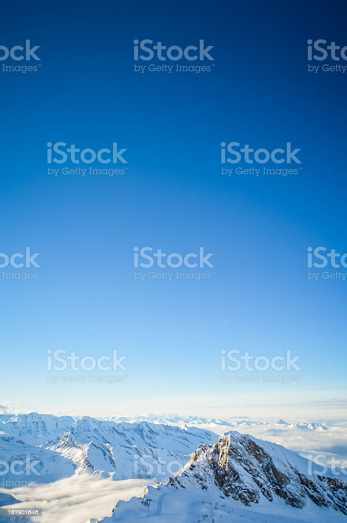 Alps snow covered royalty-free stock photo