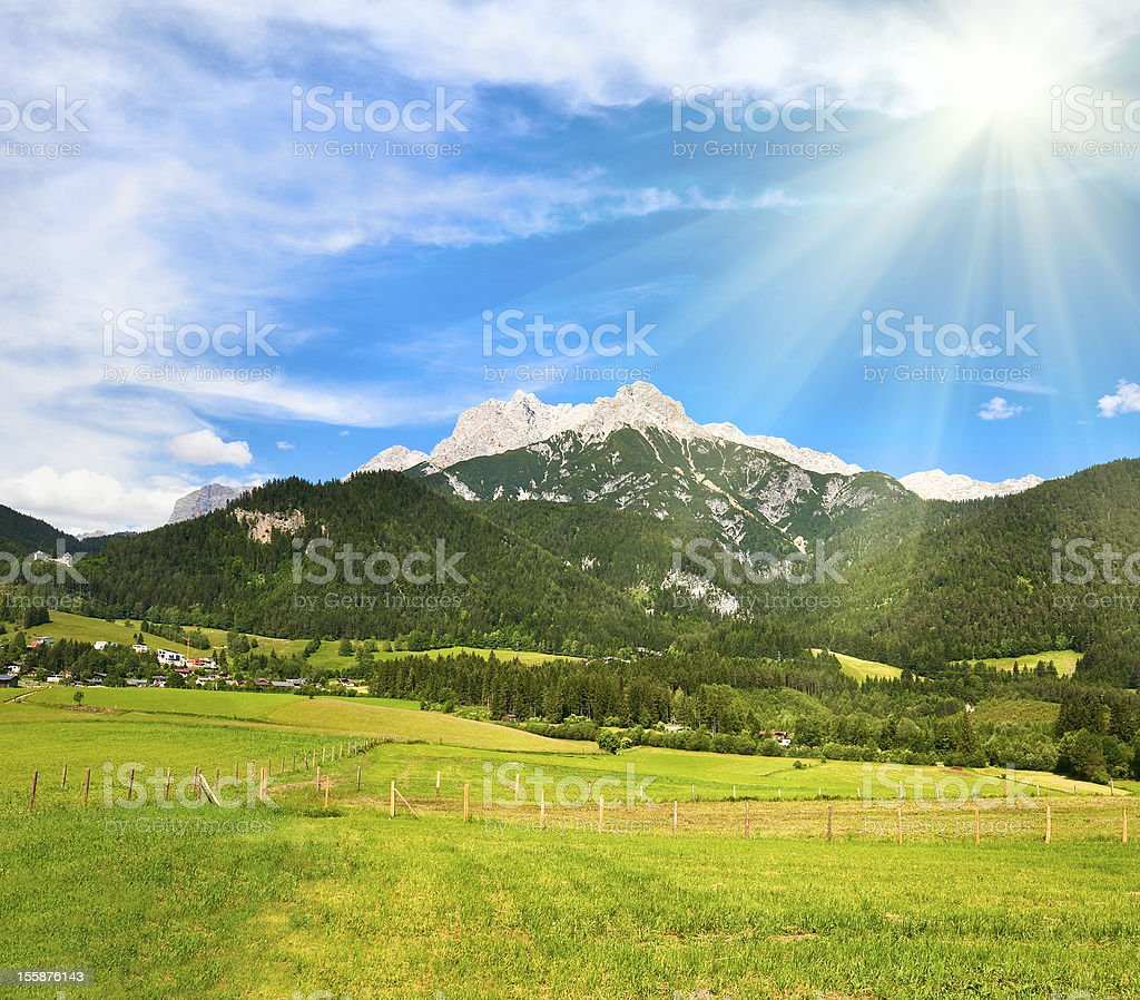 Alps summer view royalty-free stock photo
