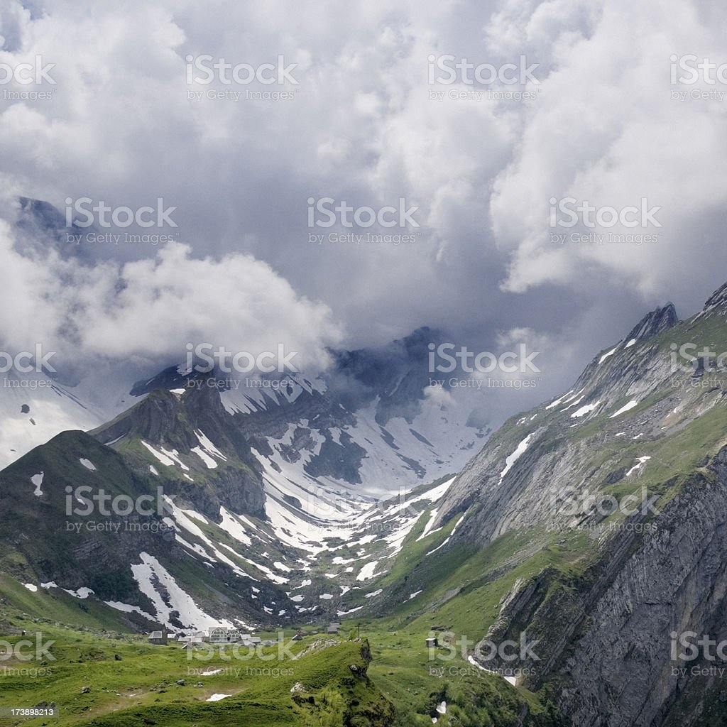 Alps Valley royalty-free stock photo
