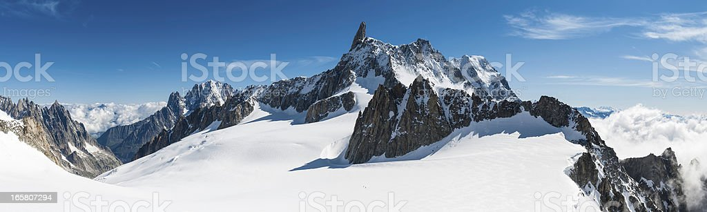 Alps white wilderness dramatic mountains peaks panorama stock photo