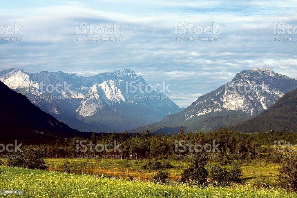Alps - Zugspitze royalty-free stock photo