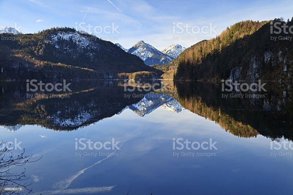 Alpsee in winter, Germany royalty-free stock photo