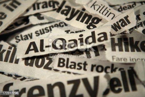 newspaper headlines focus on Al-Qaida