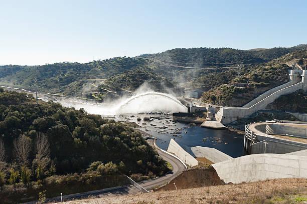 barragem do alqueva - barragem portugal imagens e fotografias de stock