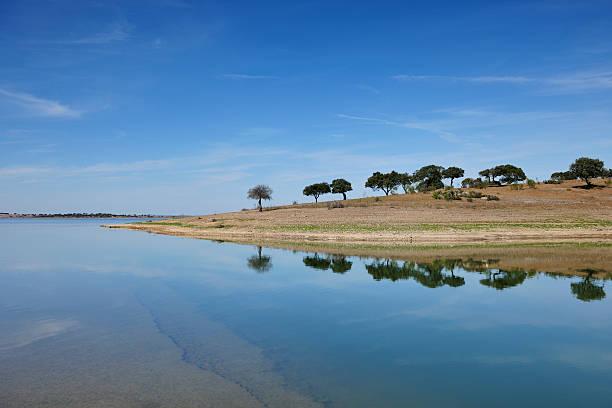 lago alqueva - barragem portugal imagens e fotografias de stock