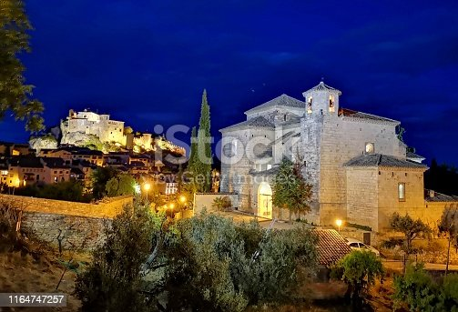 Alquezar at night, Huesca, Aragon, Spain