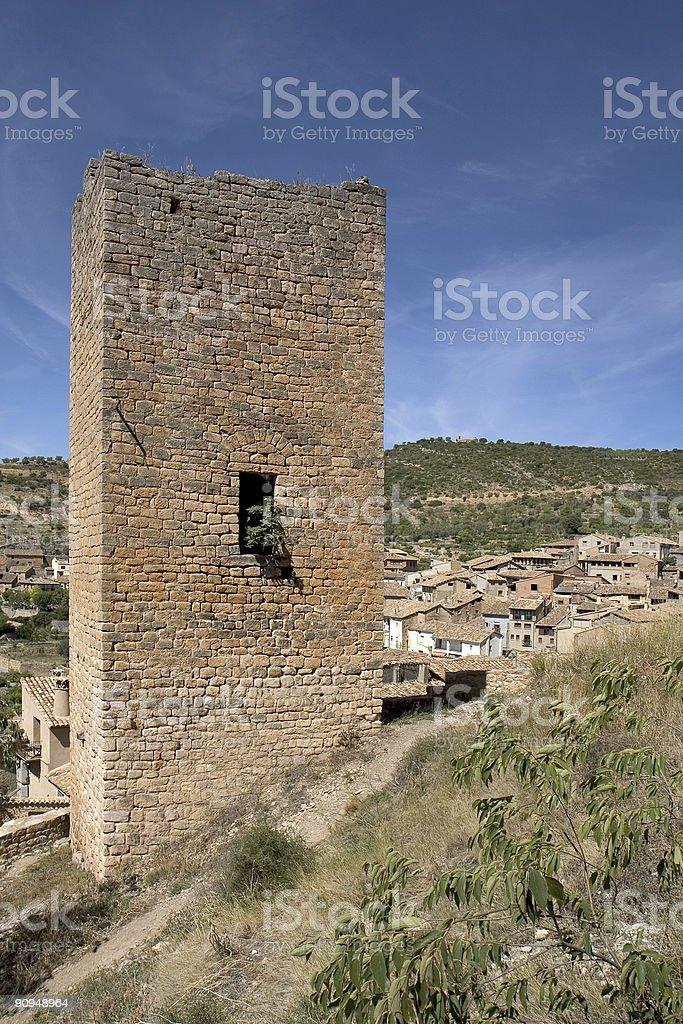 Alquezar, Huesca, Spain royalty-free stock photo