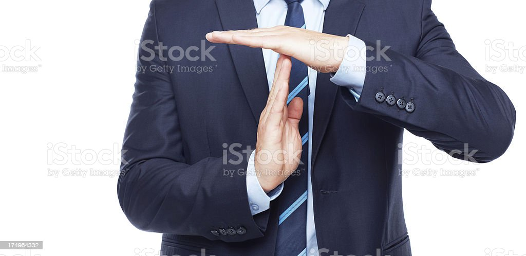 Alright, we need a break! stock photo