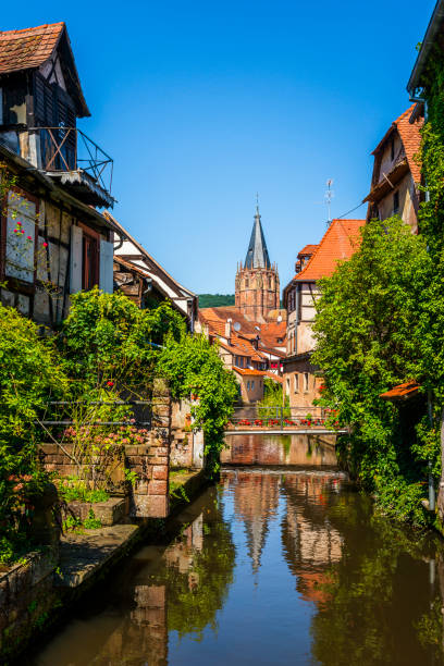 alsace wissembourg stock photo