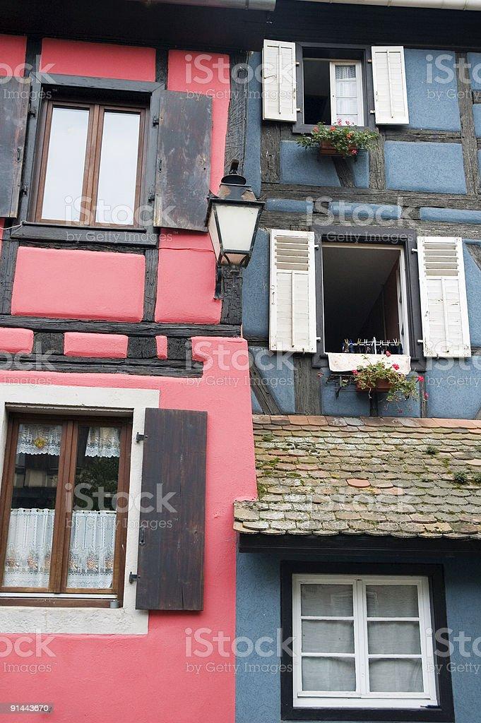 Alsacian Houses royalty-free stock photo