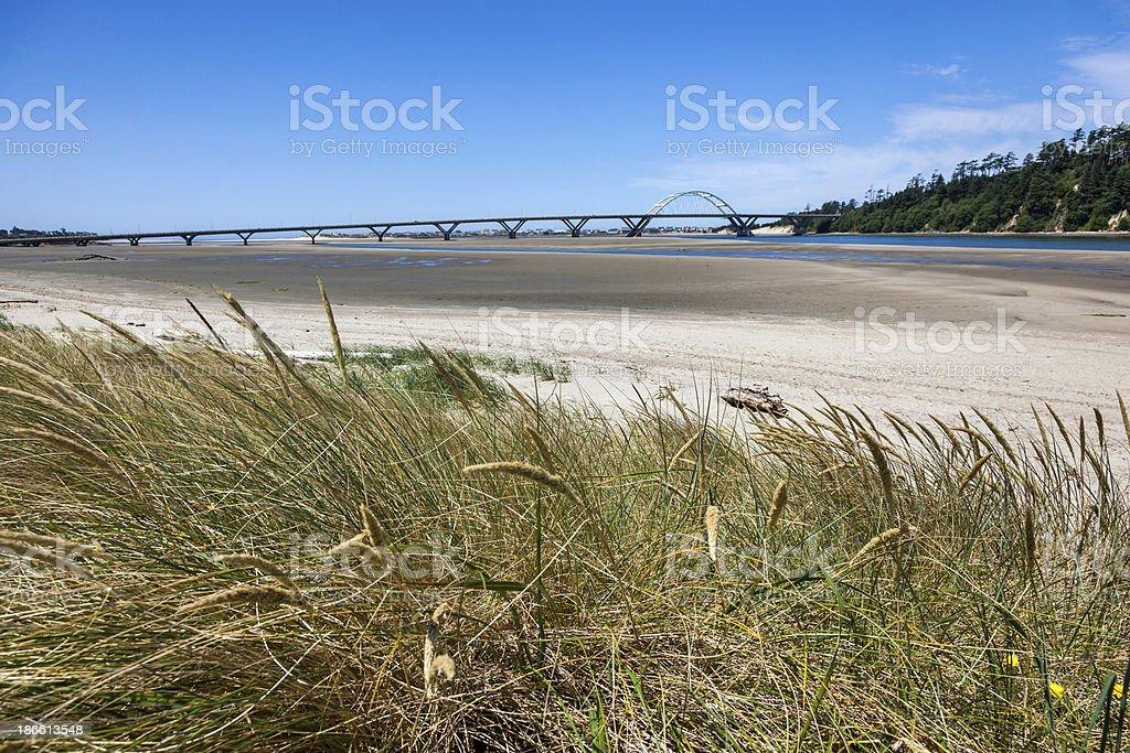 Alsea River Bridge royalty-free stock photo