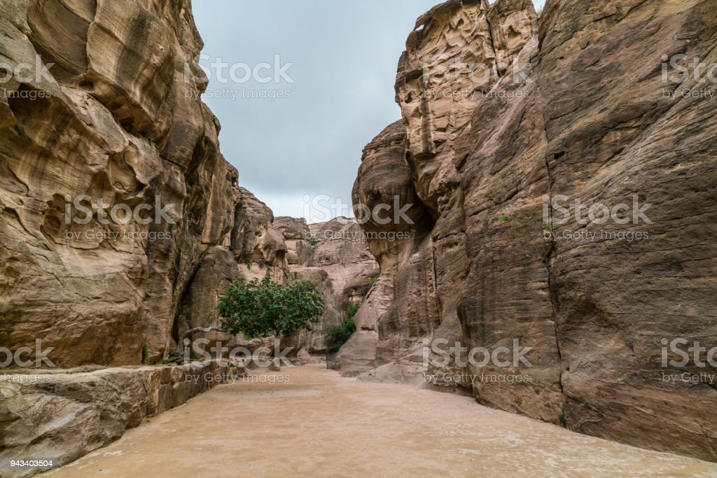 Al-Siq main entrance to Petra stock photo