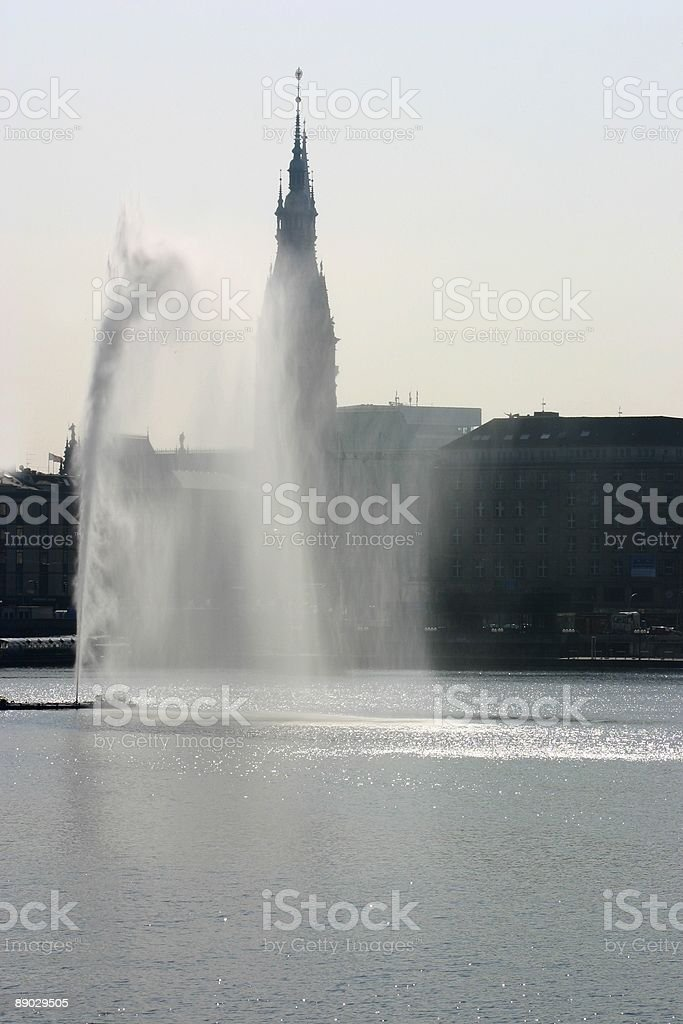 Alster fountain royalty-free stock photo