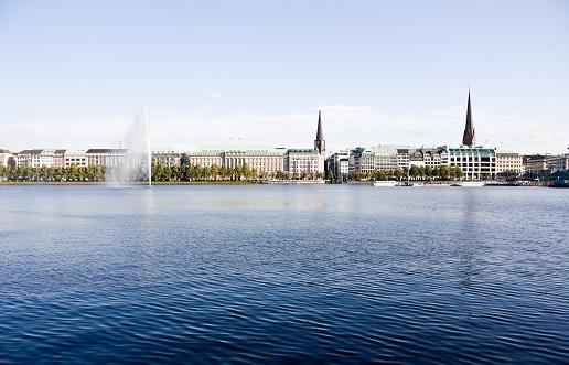 Alster lake Hamburg, Germany