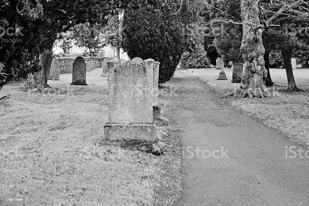 Alston Graveyard stock photo