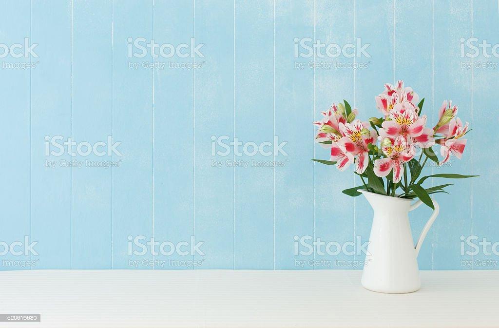 Alstroemeria  flowers stock photo