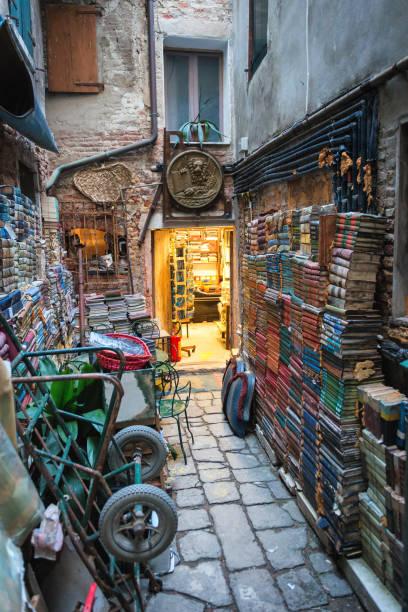 Alta Acqua Bookshop Venice stock photo