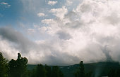 Altai landscape mountains and clouds. Nature is altai.
